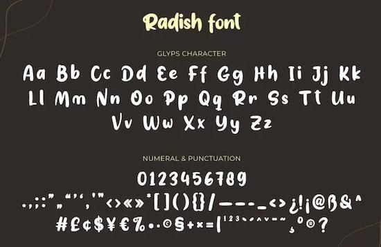 Radish font free download
