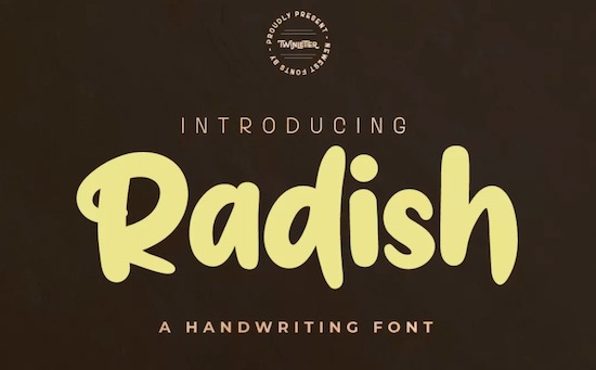 Radish font free