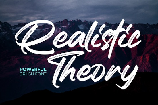 Realistic Theory font free download