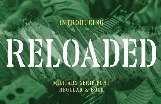 Reloaded font free download