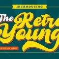 Retro Young font free download
