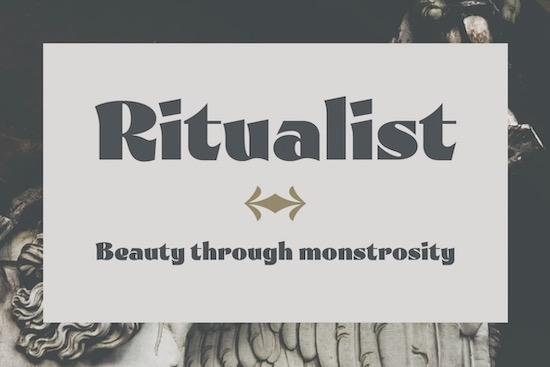 Ritualist font free download