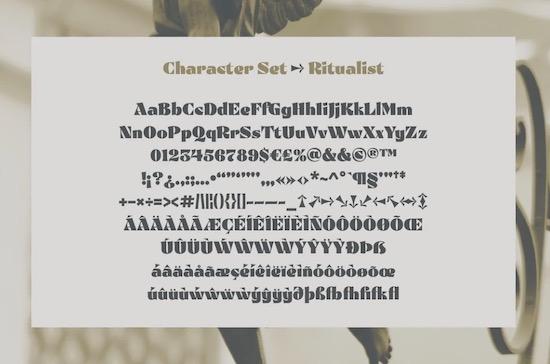 Ritualist font free