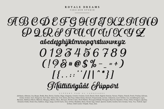Royale Dreams font free