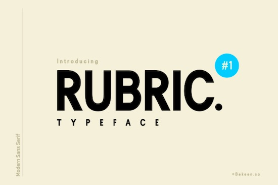 Rubric font free download