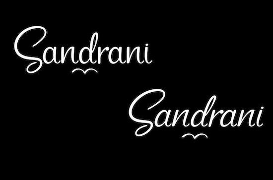 Sandrani font free download