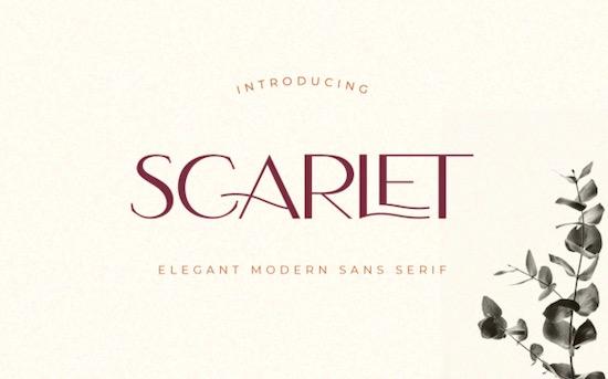 Scarlet font free download