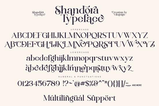 Shandora font download