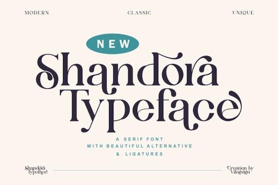 Shandora font free download