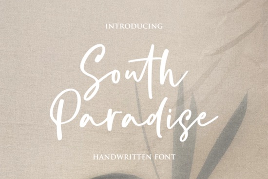 South Paradise font free download
