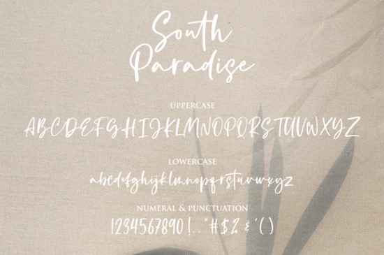 South Paradise font free