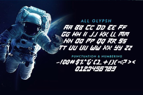 Space Mission font free