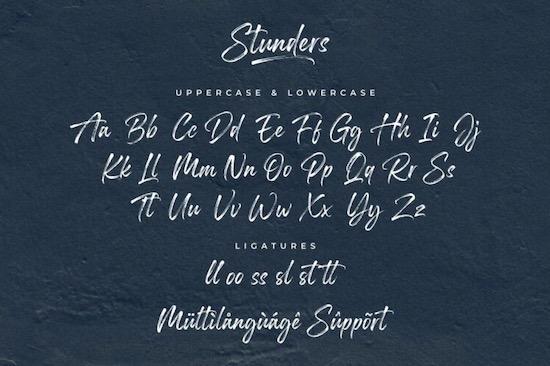 Stunders font free