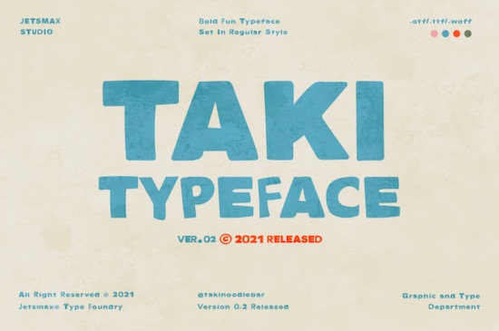 TAKI font free download