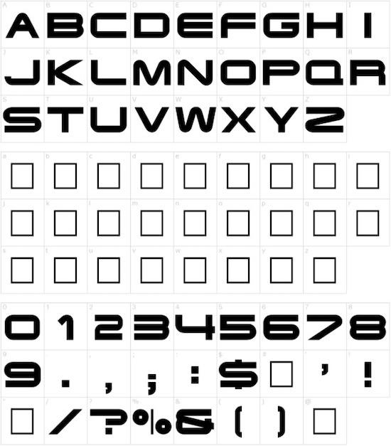 Terminator font free