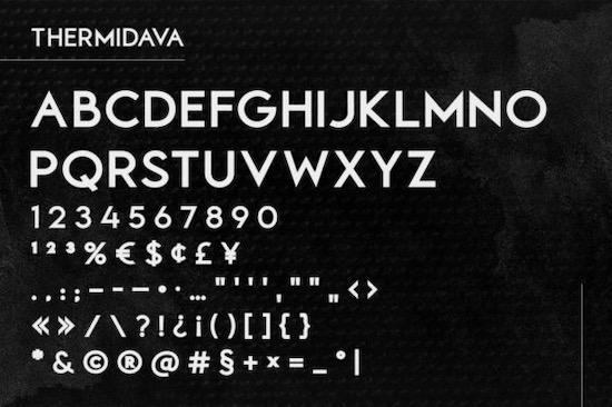 Thermindava font free