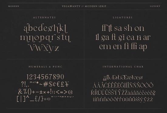 Vegawanty font download