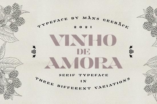 Vinho De Amora font free download