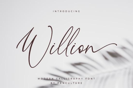 Willion font free download