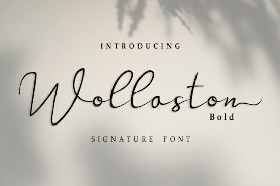 Wollaston font free download
