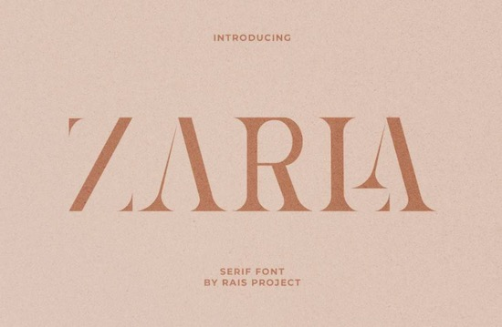 Zarla font free download