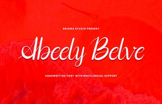 Abeely Belve font free download