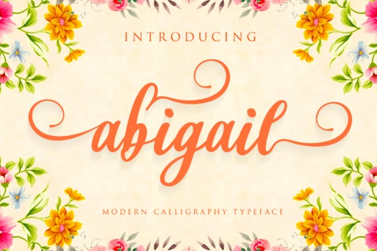 Abigail font free download