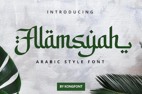 Alamsyah font download