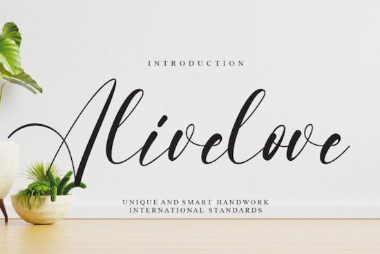 Alivelove font free download
