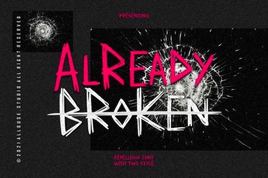 Already Broken font download
