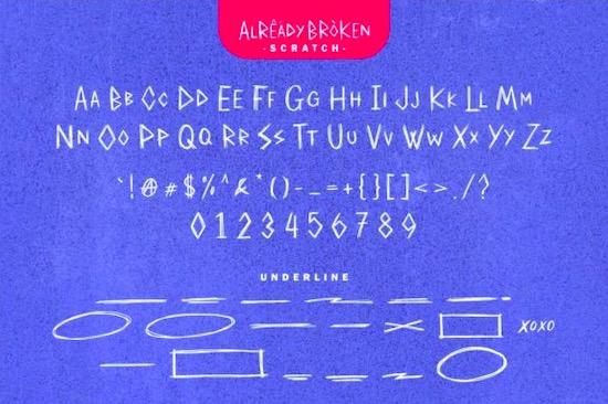 Already Broken font free download