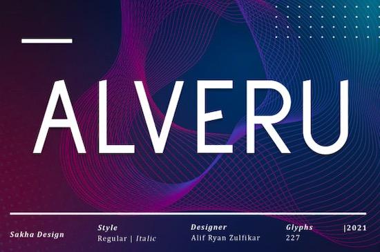 Alveru font free download