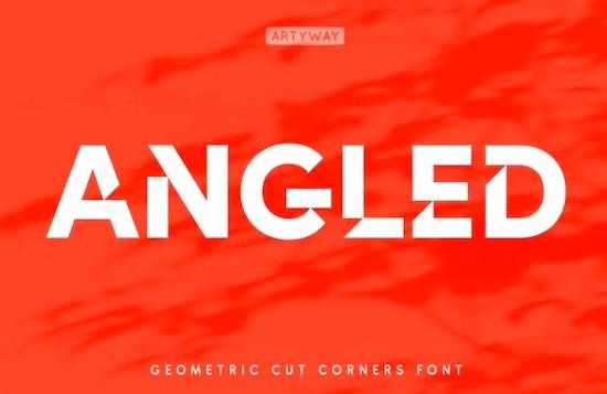 Angles font free