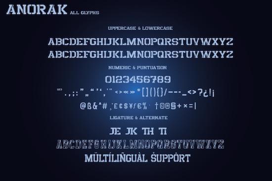 Anorak font download