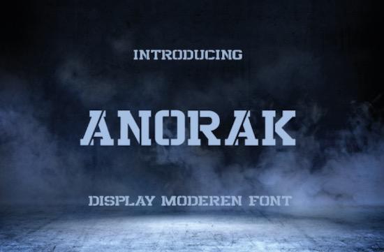 Anorak font free download