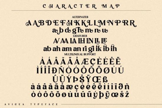 Avigea font free