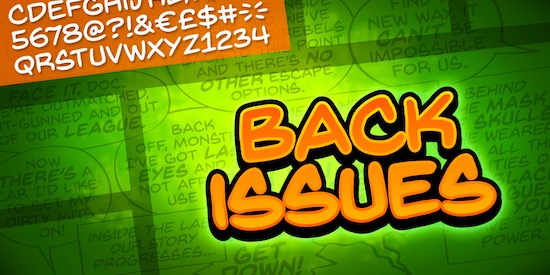 Back Issues BB font family