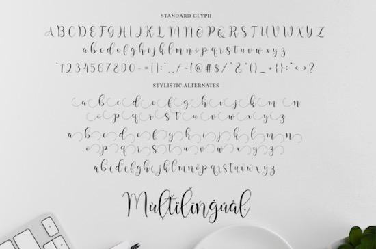 Bakquila font download