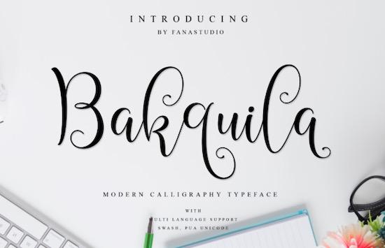 Bakquila font free download