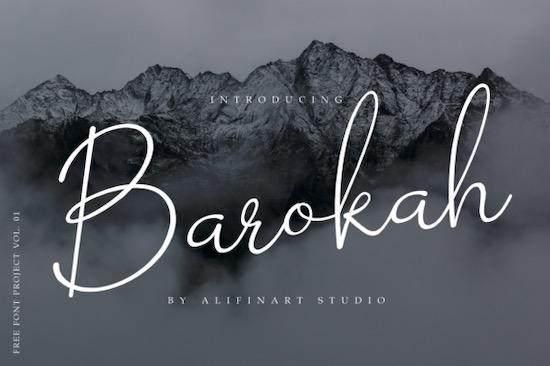 Barokah font free download
