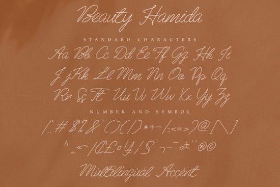 Beauty Hamida font download