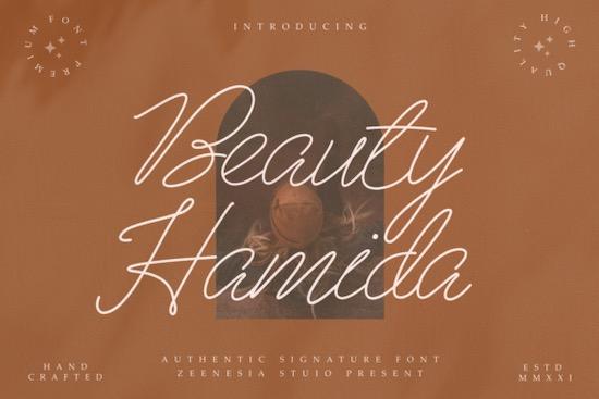 Beauty Hamida font free download