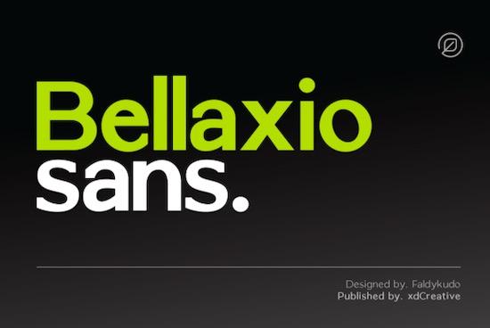 Bellaxio Sans font download