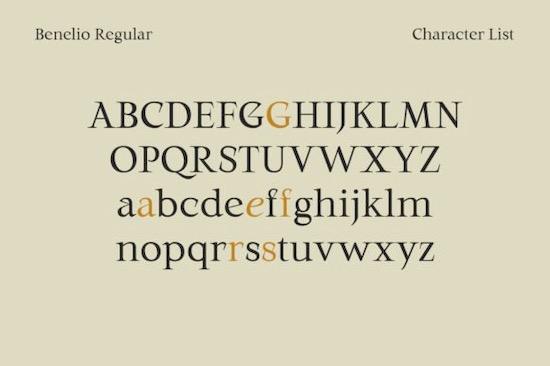 Benelio font download