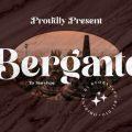 Bergante font free download
