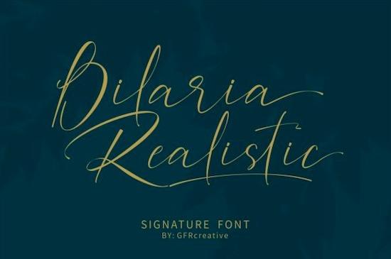Bilaria Realistic font free download