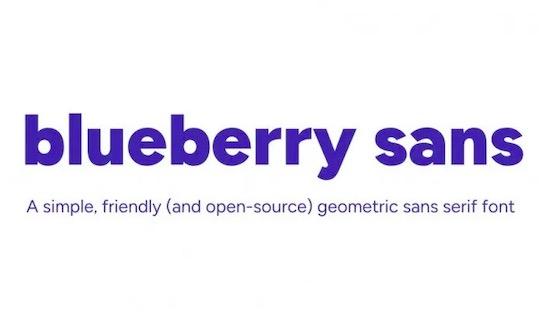 Blueberry Sans font download