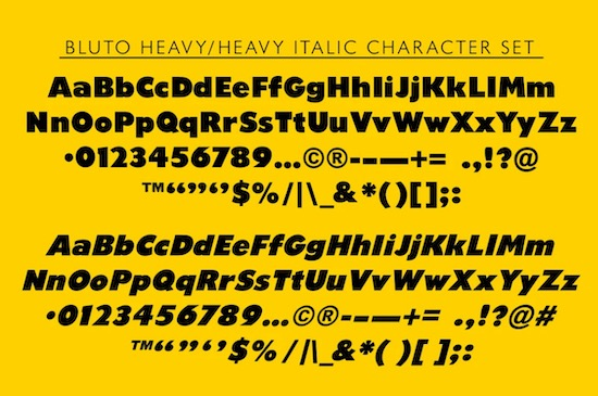 Bluto font family download