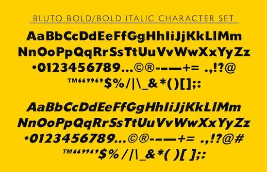 Bluto font family free