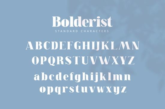 Bolderist font download